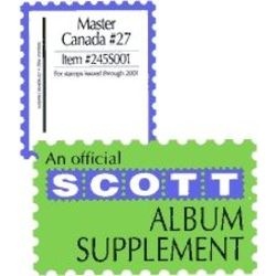 annual supplement for the scott master canada stamp album