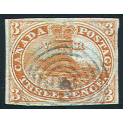 canada stamp 4xiii beaver 3d 1852