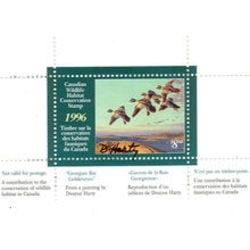 canadian wildlife habitat conservation stamp fwh12d goldeneyes 8 50 1996