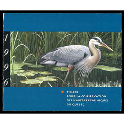 quebec wildlife habitat conservation stamp qw9b great blue heron by jean charles daumas 7 50 1996