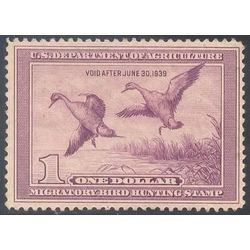 us stamp rw hunting permit rw5 pintail drake and hen alighting 1 1938