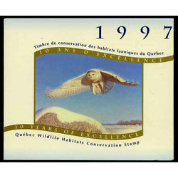 quebec wildlife habitat conservation stamp qw10d snowy owl by claudio d angelo 7 50 1997