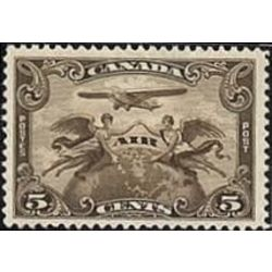 canada stamp c air mail c1i two winged figures against globe 5 1928