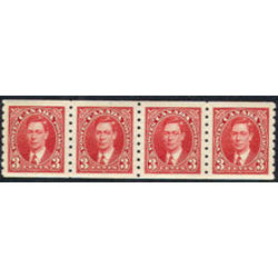 canada stamp 240 strip king george vi 1937