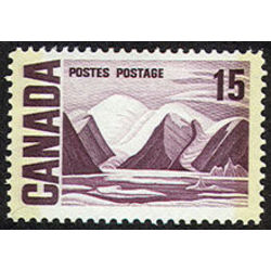 canada stamp 463pii bylot island by lawren harris 15 1972