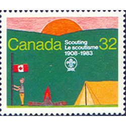 canada stamp 993i scout encampment 32 1983
