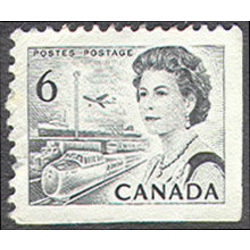 canada stamp 460bs queen elizabeth ii transportation 6 1970