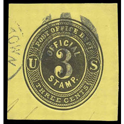 us stamp postal stationery u uo12 post office department 3 1874