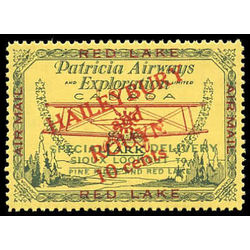 canada stamp c air mail cl14f patricia airways and exploration co ltd style one 10 1926