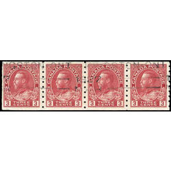 canada stamp 130bstrip king george v 1924