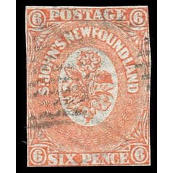 newfoundland stamp 13i 1860 second pence issue 6d 1860