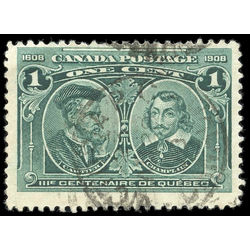 canada stamp 97iii cartier champlain 1 1908