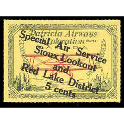 canada stamp c air mail cl25 patricia airways and exploration co ltd style three 5 1927