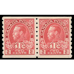 canada stamp mr war tax mr6iipa war tax coil pair 1916