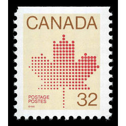Canada stamp 924bisi maple leaf 32 1984