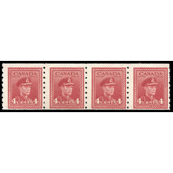 canada stamp 267strip king george vi 1943