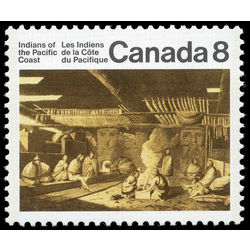 Canada stamp 570i the inside of a nootka sound house 8 1974