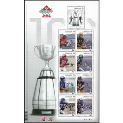 canada stamp 2567 100th grey cup game 5 49 2012
