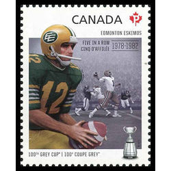 canada stamp 2567c edmonton eskimos tom wilkinson 1943 five in a row 2012