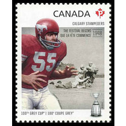 canada stamp 2567d calgary stampeders wayne harris 1938 the festival begins 2012