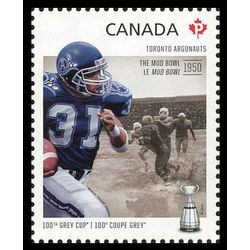 canada stamp 2567h toronto argonauts michael clemons 1965 the mud bowl 2012