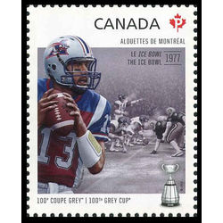 canada stamp 2567i montreal alouettes anthony calvillo 1972 the ice bowl 2012